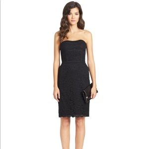 Diane von Furstenberg Bailey Lace Strapless Dress